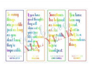 book quote bookmarks literature