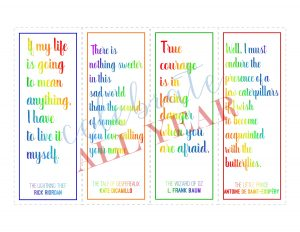 book quote bookmarks literature