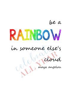 be a rainbow printable sign