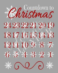 christmas countdown calendar advent