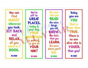 seuss quote bookmarks literature
