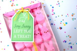 Easter treats printable gift tag