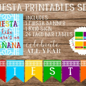 fiesta printable sign banner taco bar