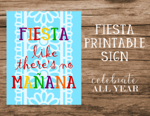 fiesta printable sign