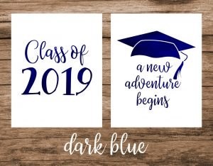 2019 graduation printable sign