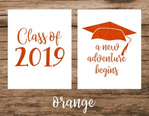 2019 graduation printable sign