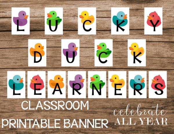 rubber duck classroom banner