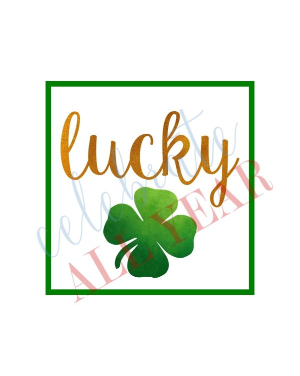 Lucky Shamrock printable sign