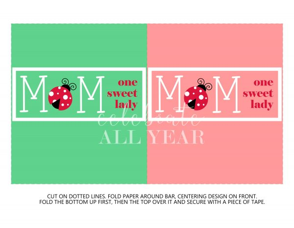 mothers day candy bar wrapper