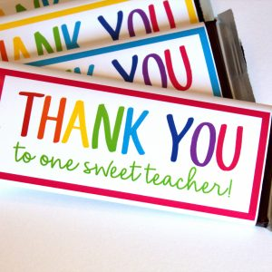 Teacher Appreciation Chocolate Candy Bar Wrapper