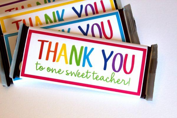Teacher Appreciation Chocolate Candy Bar Wrapper