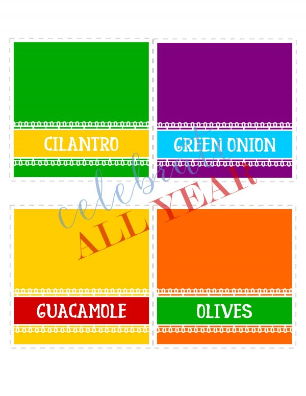 fiesta printable taco bar