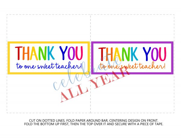 teacher appreciation candy bar wrapper