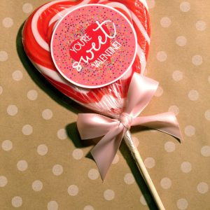 Valentine's sucker tags