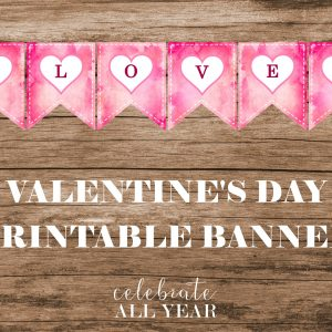 valentines day printable banner