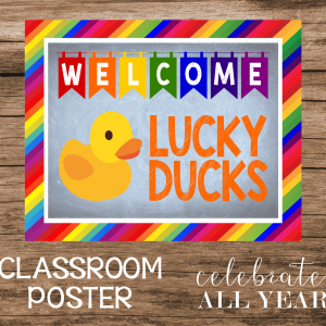 rubber duck classroom poster