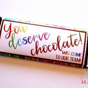 Printable Candy Bar Wrappers, welcome staff