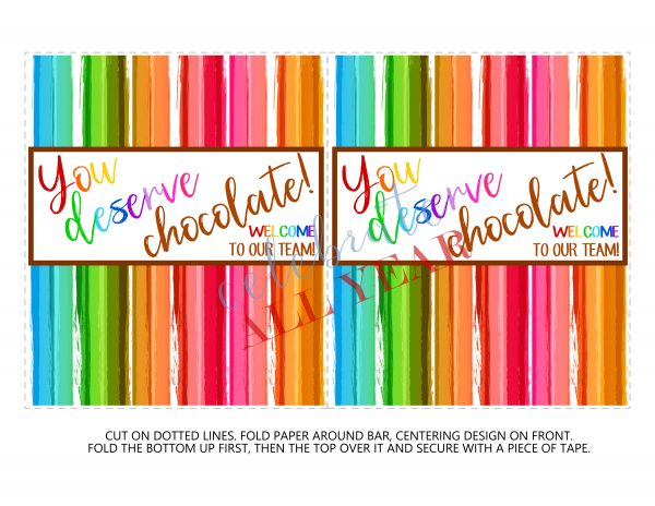 Printable Candy Bar Wrappers, staff appreciation