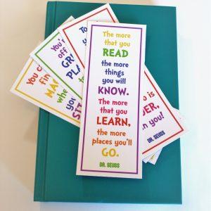 Dr. Seuss, bookmarks, Read Across America Week
