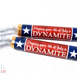 4th of July Dynamite Candy Wrappers