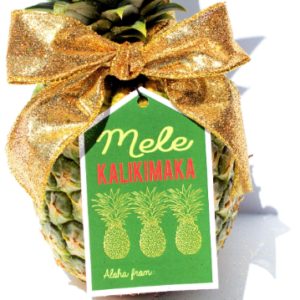 Hawaiian Christmas Tags
