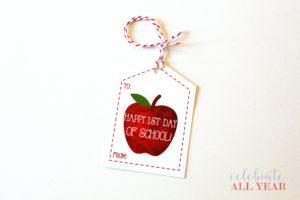 printable apple back to school tags