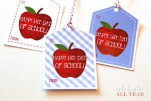 printable apple welcome back tag