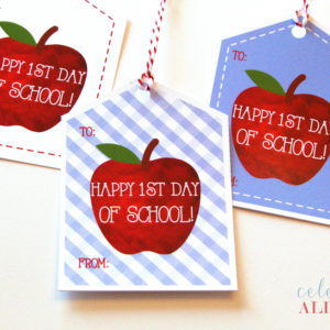 printable apple welcome back tag