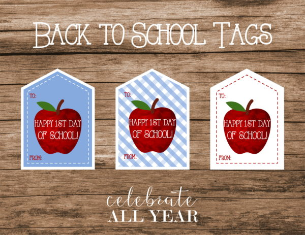 printable back to school tags