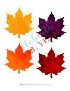 fall leaves blank