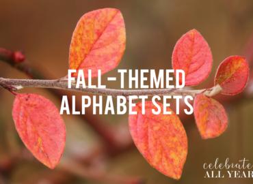 Printable Fall-Themed Alphabet Sets