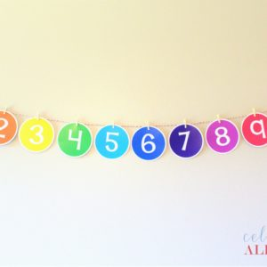 printable number banner