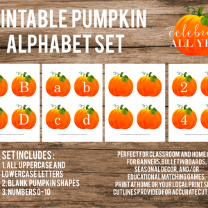 printable pumpkin alphabet set