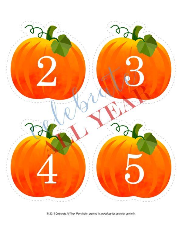 printable pumpkins numbers