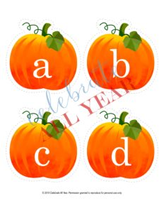 pumpkin letters lowercase
