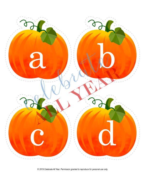 pumpkin letters lowercase
