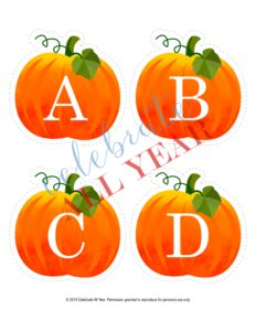pumpkin alphabet uppercase