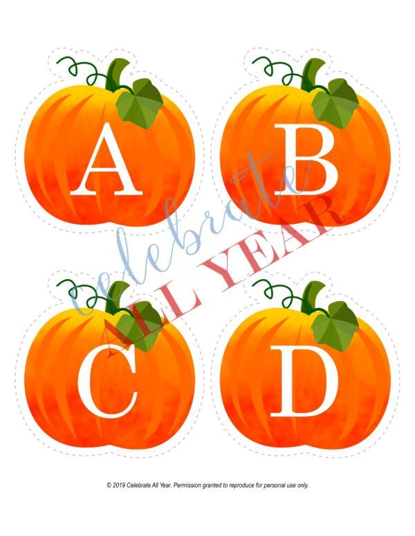 pumpkin alphabet uppercase