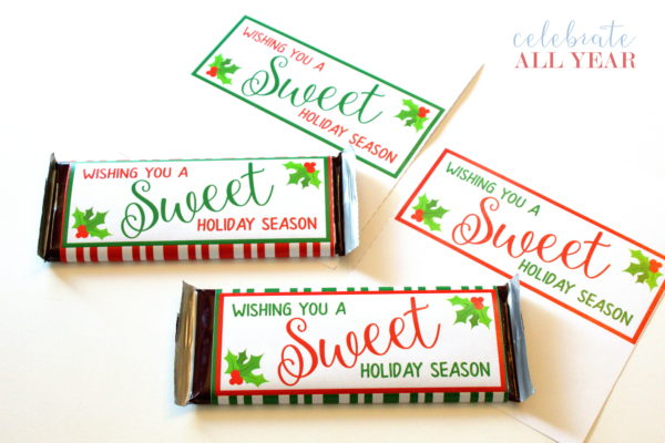 sweet holiday season candy bar wrappers