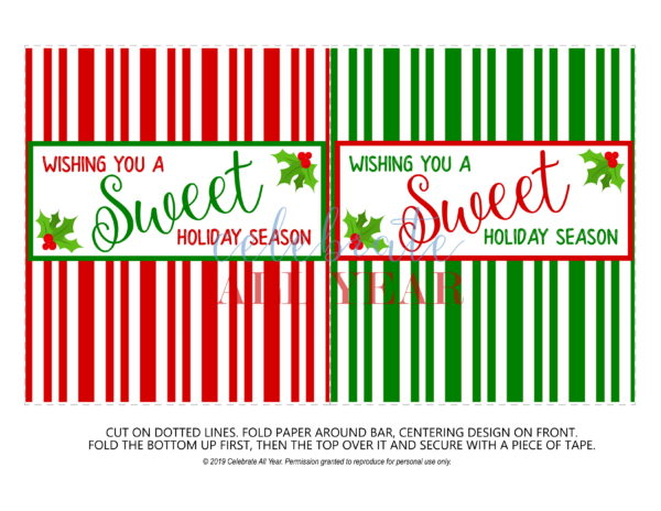 sweet holiday season stripe wrappers