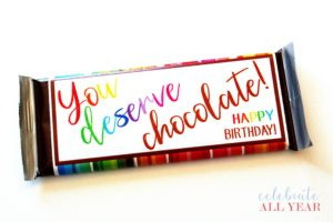 Happy Birthday Chocolate Candy Bar Wrappers