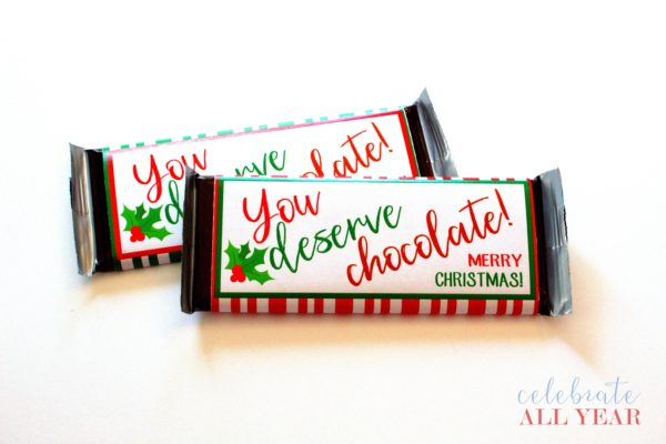 merry Christmas candy bar wrappers