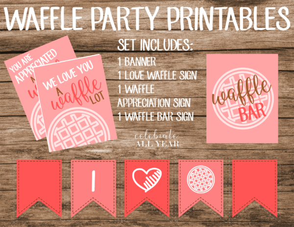 waffle party set pink