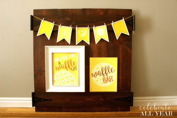 waffle party set yellow