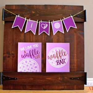 waffle party set purple