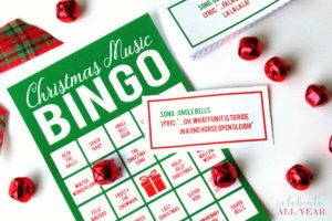 christmas music bingo