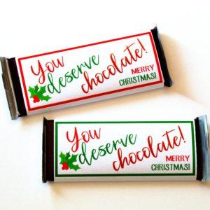 You Deserrve Chocolate for Christmas