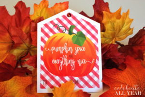 Pumpkin Spice Gift Tags