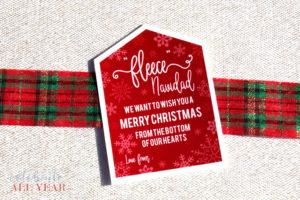 Fleece Navidad Gift Tags