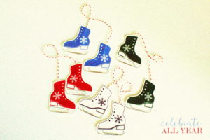Ice Skate Ornaments